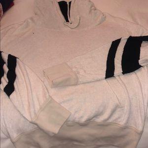 Free People NWT lined hood sweatshirt